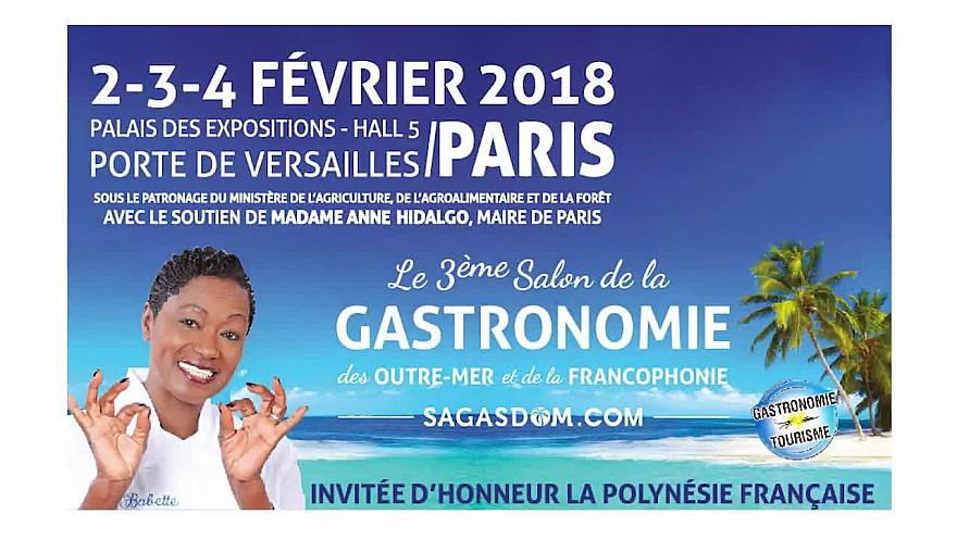Salon de la Gastronomie d'Outre-mer et des francophonies avec Babette de Rozières